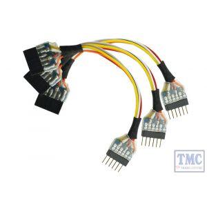 DCD-HZ66.3 DCC Concepts N Scale ZEN NEM651 6 Pin to 6 Pin Socket Harness (3)