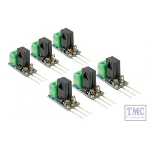 DCD-SDC6 DCC Concepts N/HO/OO/O/G Scale Solenoid Decoder Converter - 3 Wire to 2 Wire DC (6)