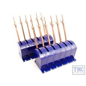 DCP-CBS12 DCC Concepts N/HO/OO/O/G Scale Cobalt S - Lever with All Accessories (12 Pack)