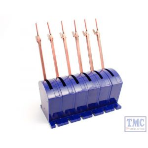 DCP-CBS6 DCC Concepts N/HO/OO/O/G Scale Cobalt S - Lever with All Accessories (6 Pack)