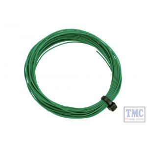 DCW-32GR DCC Concepts N/TT/HO/OO/O/G Scale Green Stranded Decoder Wire (6m)
