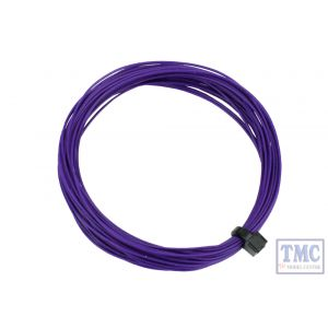 DCW-32PP DCC Concepts N/TT/HO/OO/O/G Scale Purple Stranded Decoder Wire (6m)