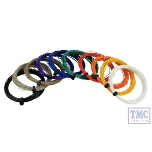 DCW-32SET DCC Concepts N/TT/HO/OO/O/G Scale Pack of all Decoder Wire Colours (32g Stranded Wire)