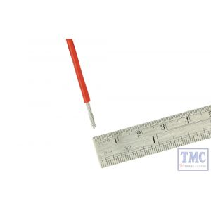 DCW-RD1-1.5 DCC Concepts N/TT/HO/OO/O/G Scale 1m of 1.5mm (15g) Red Power Bus Wire