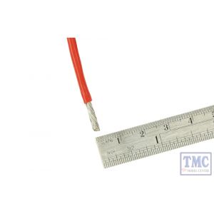 DCW-RD1-3.5 DCC Concepts N/TT/HO/OO/O/G Scale 1m of 3.5mm (11g) Red Power Bus Wire