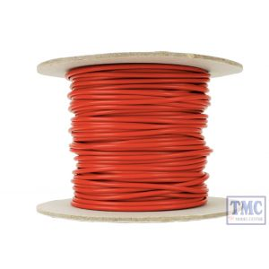 DCW-RD25-1.5 DCC Concepts N/TT/HO/OO/O/G Scale 25m of 1.5mm (15g) Red Power Bus Wire