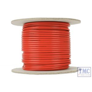 DCW-RD25-2.5 DCC Concepts N/TT/HO/OO/O/G Scale 25m of 2.5mm (13g) Red Power Bus Wire