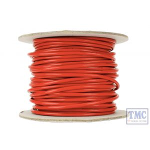 DCW-RD25-3.5 DCC Concepts N/TT/HO/OO/O/G Scale 25m of 3.5mm (11g) Red Power Bus Wire