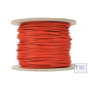 DCW-RD50-1.5 DCC Concepts N/TT/HO/OO/O/G Scale 50m of 1.5mm (15g) Red Power Bus Wire