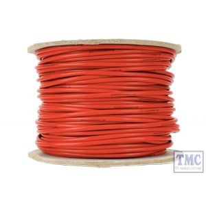 DCW-RD50-2.5 DCC Concepts N/TT/HO/OO/O/G Scale 50m of 2.5mm (13g) Red Power Bus Wire