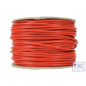 DCW-RD50-3.5 DCC Concepts N/TT/HO/OO/O/G Scale 50m of 3.5mm (11g) Red Power Bus Wire