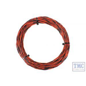 DCW-TW25-1.0 DCC Concepts N/TT/HO/OO/O/G Scale 25m Red & Black 26x 0.015 Dropper Wire
