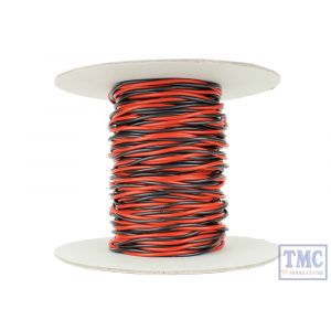 DCW-TW25-1.5 DCC Concepts N/TT/HO/OO/O/G Scale 25m of 1.5mm (15g) Twin Twisted Power Bus Wire