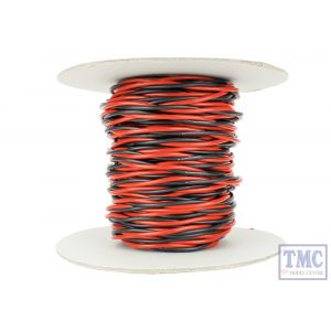 DCW-TW25-2.5 DCC Concepts N/TT/HO/OO/O/G Scale 25m of 2.5mm (13g) Twin Twisted Power Bus Wire