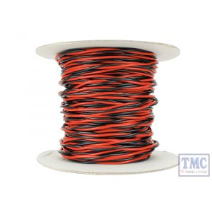 DCW-TW50-1.5 DCC Concepts N/TT/HO/OO/O/G Scale 50m of 1.5mm (15g) Twin Twisted Power Bus Wire