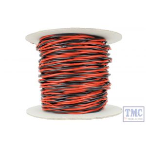 DCW-TW50-2.5 DCC Concepts N/TT/HO/OO/O/G Scale 50m of 2.5mm (13g) Twin Twisted Power Bus Wire