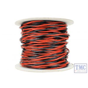 DCW-TW50-3.5 DCC Concepts N/TT/HO/OO/O/G Scale 50m of 3.5mm (11g) Twin Twisted Power Bus Wire