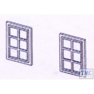 DPB20 Dornaplas OO Gauge Windows 6 Pane 12 x 18mm (20)