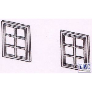 DPB21 Dornaplas OO Gauge Windows 6 Pane 10 x 16mm (20)