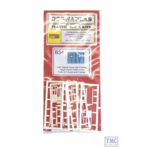DPB34 Dornaplas OO Gauge Half Glazed Doors (4)