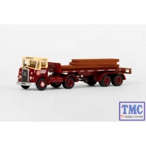 E19304 OO Gauge Atkinson Semi Trailer Flatbed J & A Smith of Maddiston Exclusive First Edition (EFE)