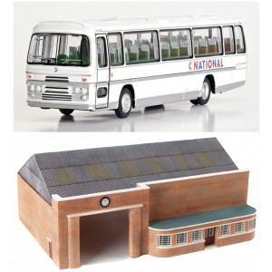 E99660 Exclusive First Editions (EFE) OO Scale Bus Garage with National Bus
