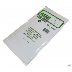 "EG9060 Evergreen Plastics 12"" x 6"" Sheet 0.060"" thickness Pack of 1"
