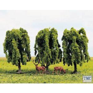GM185 Gaugemaster N & OO Gauge Tree Set - Weeping Willow (3)