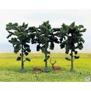 GM187 Gaugemaster N & OO Gauge Tree Set - Pine (3)
