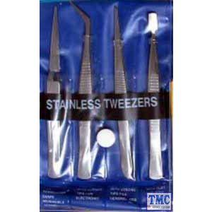 GM609 Gaugemaster Stainless Steel Tweezers (4)