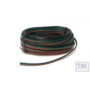 GMC-PM51 Gaugemaster N/HO/OO/O Scale Point Motor Wire (Red/Green/Black) 10m Tripled (14 x 0.15)