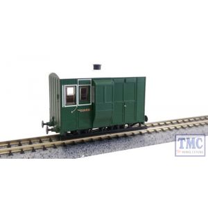 Early Pres Liv 3rd Cl GR-556 Peco 009 Narrow Gauge FR 4wh Bug Box Coach