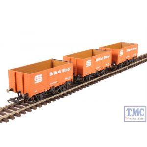 GV6013 Golden Valley Hobbies OO Gauge British Steel 7 Plank Open Wagon Set (3 Pack)