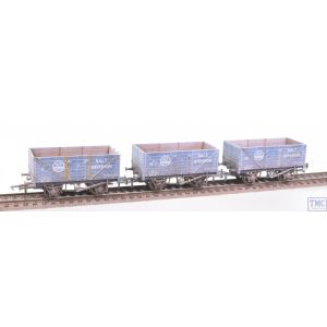 GV6020 Golden Valley Hobbies OO Gauge Pack of Three 7-plank Open Salt Wagons ICI with Deluxe Weathering by TMC