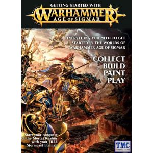 80-16-60 Games Workshop Getting Started Warhammer Age of Sigmar Booklet + Free Figure