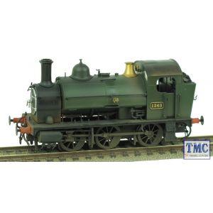 1301 Heljan OO Gauge Class 1361 0-6-0ST 1363 GWR Green Shirtbutton Real Coal & Weathered by TMC