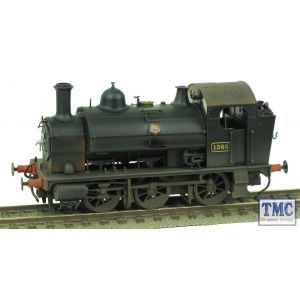 1303 Heljan OO Gauge Class 1361 0-6-0ST 1365 BR Black Early Crest Real Coal & Weathered by TMC