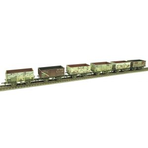 37-265Z Bachmann Six Pack 16 Ton Mineral Wagons BR Grey *TMC Limited Edition* Factory Weathered