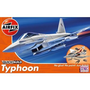 J6002 Airfix QUICK BUILD Eurofighter Typhoon - Dimensions (mm): L231 x W160 X H77