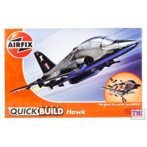 J6003 Airfix QUICK BUILD BAe Hawk - Dimensions (mm): L221 x W180 x H64