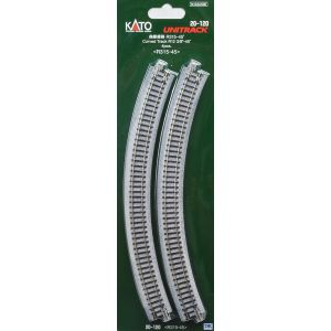 K20-120 Kato N Scale Ground Level Radius 315mm Curved Track 45 Deg.(4)