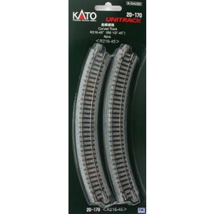 K20-170 Kato N Scale Ground Level Radius 216mm Curved Track 45 Deg. (4)