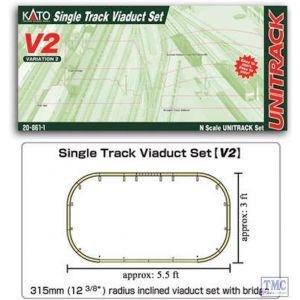 K20-861 Kato N Scale V2 Up & Down Elevated Oval Variation Pack
