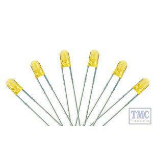 LED-PW3 DCC Concepts N/TT/HO/OO/O/G Scale 3mm T-1 Type LED Prototype White (6)