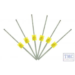 LED-YLM DCC Concepts N/TT/HO/OO/O/G Scale Yellow 1.6mm Mini Butterfly Lead Type LED (6)