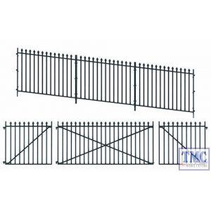 LK-742 Peco O Gauge GWR Spear fencing ramp panels gates & posts