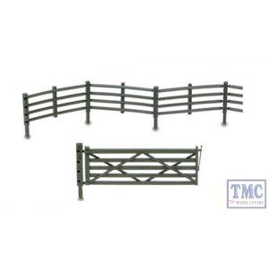 LK-743 Peco O Gauge Flexible field fencing & gates - fencing (47in) gates (x4)