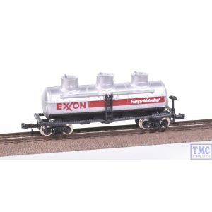 3411 Model Power N Gauge US Outline 40ft Triple Domed Tanker Exxon Silver
