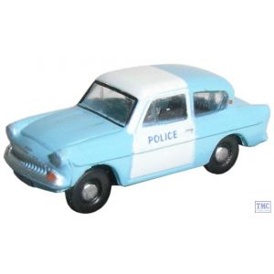 N105003 Oxford Diecast Police Panda Ford Anglia 1/148 Scale N Gauge