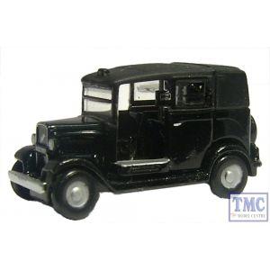 NAT001 Oxford Diecast Black Austin Low Loader Taxi 1/148 Scale N Gauge